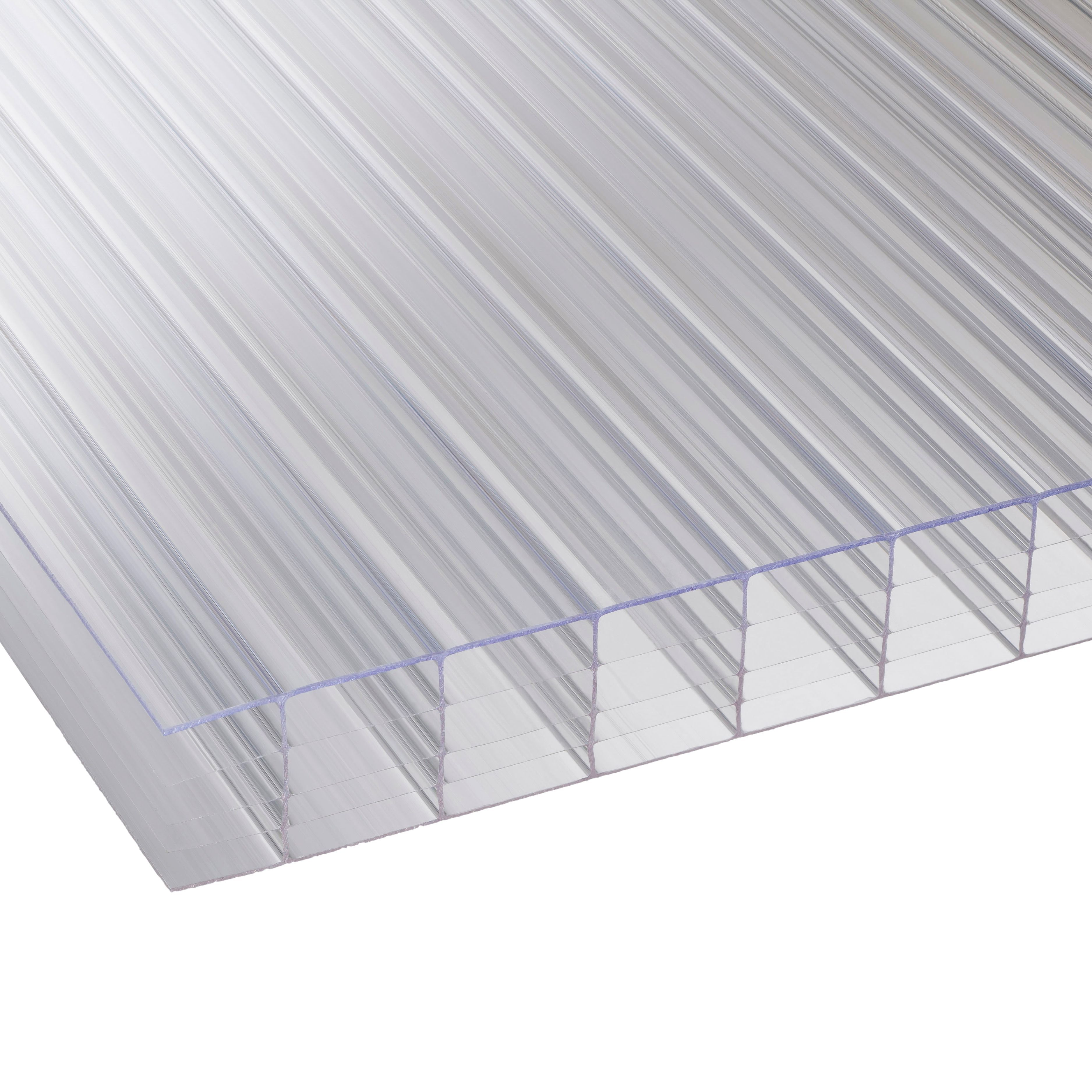 Clear Multiwall Polycarbonate Roofing Sheet 2.5m X 1050mm, Pack Of 5