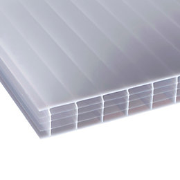 Opal Multiwall Polycarbonate Roofing Sheet 2.5M x 1050mm,
