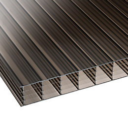 Bronze Mutilwall Polycarbonate Roofing Sheet 2500mm x 700mm,