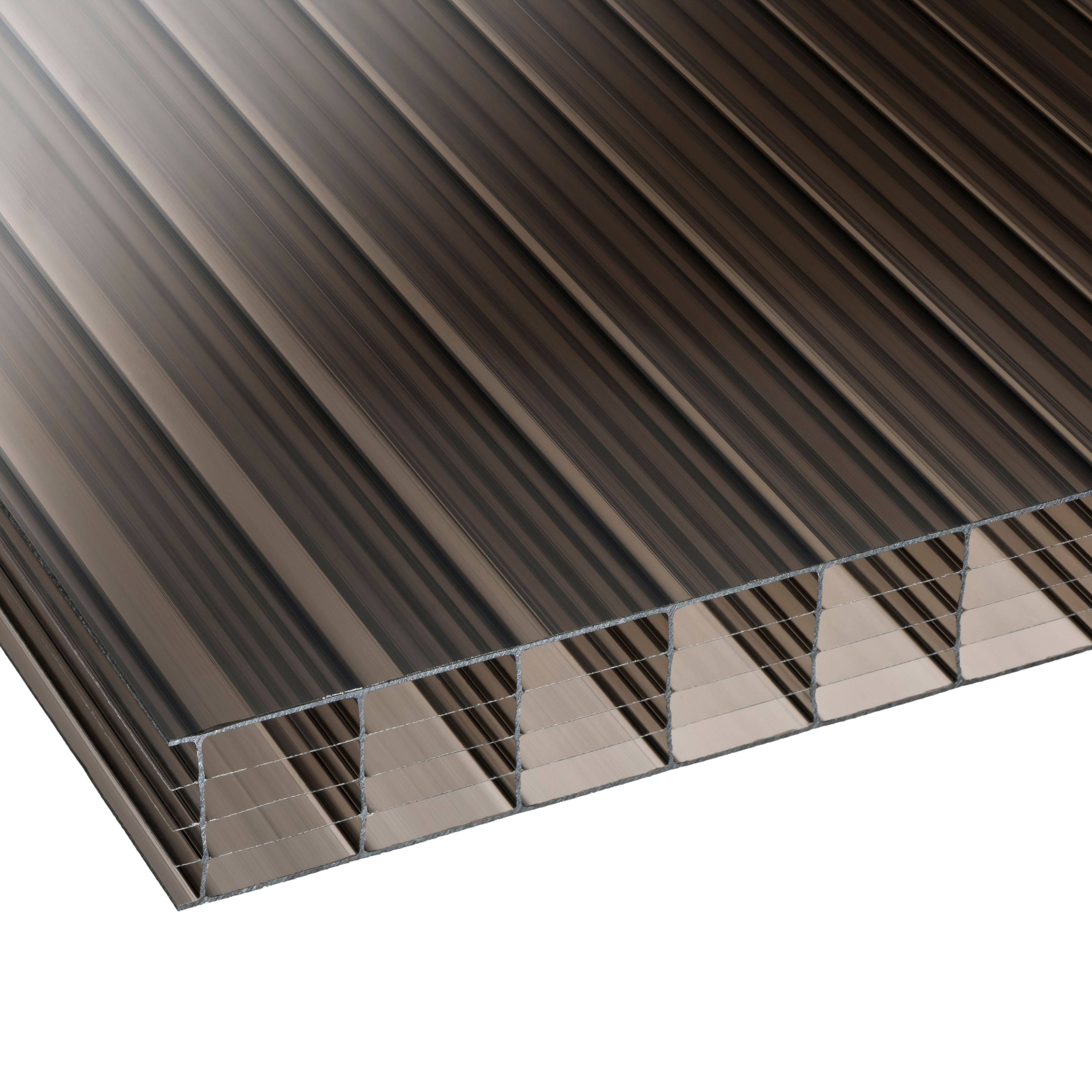 Bronze Multiwall Polycarbonate Roofing Sheet 3m X 980mm, Pack Of 5