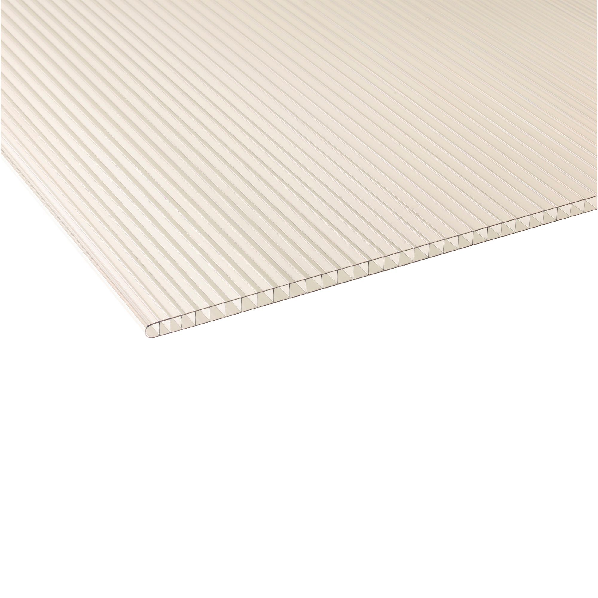 Clear Polycarbonate Roofing Sheet 2.4M x 700mm | Departments | DIY at B&Q.