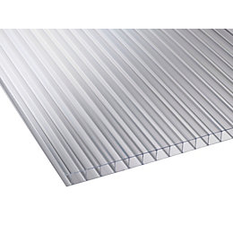 Clear Mutilwall Polycarbonate Roofing Sheet 4000mm x 980mm,