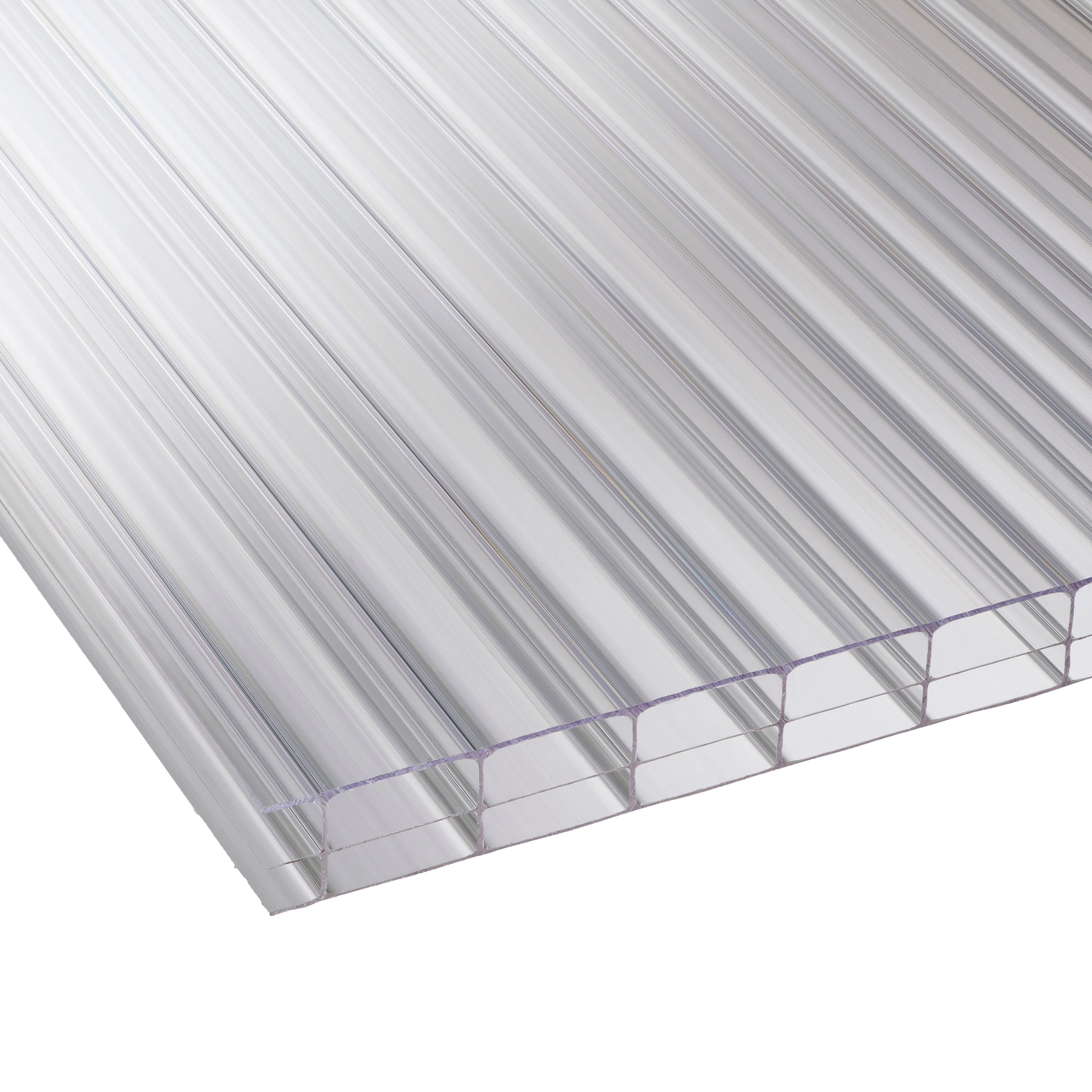Clear Multiwall Polycarbonate Roofing Sheet 2.5m X 980mm, Pack Of 5