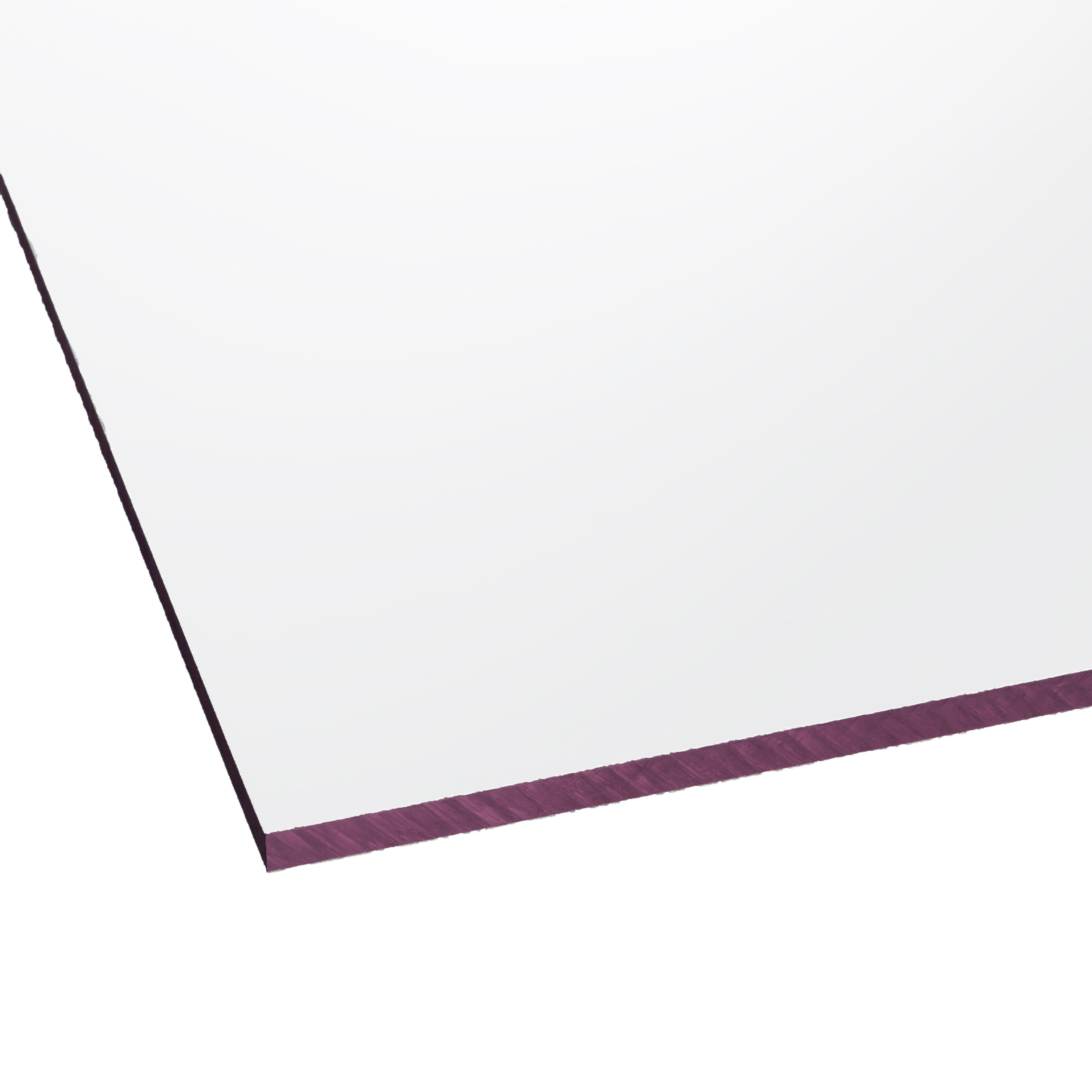 Clear Flat Polycarbonate Glazing Sheet 1220mm X 610mm, Pack Of 2