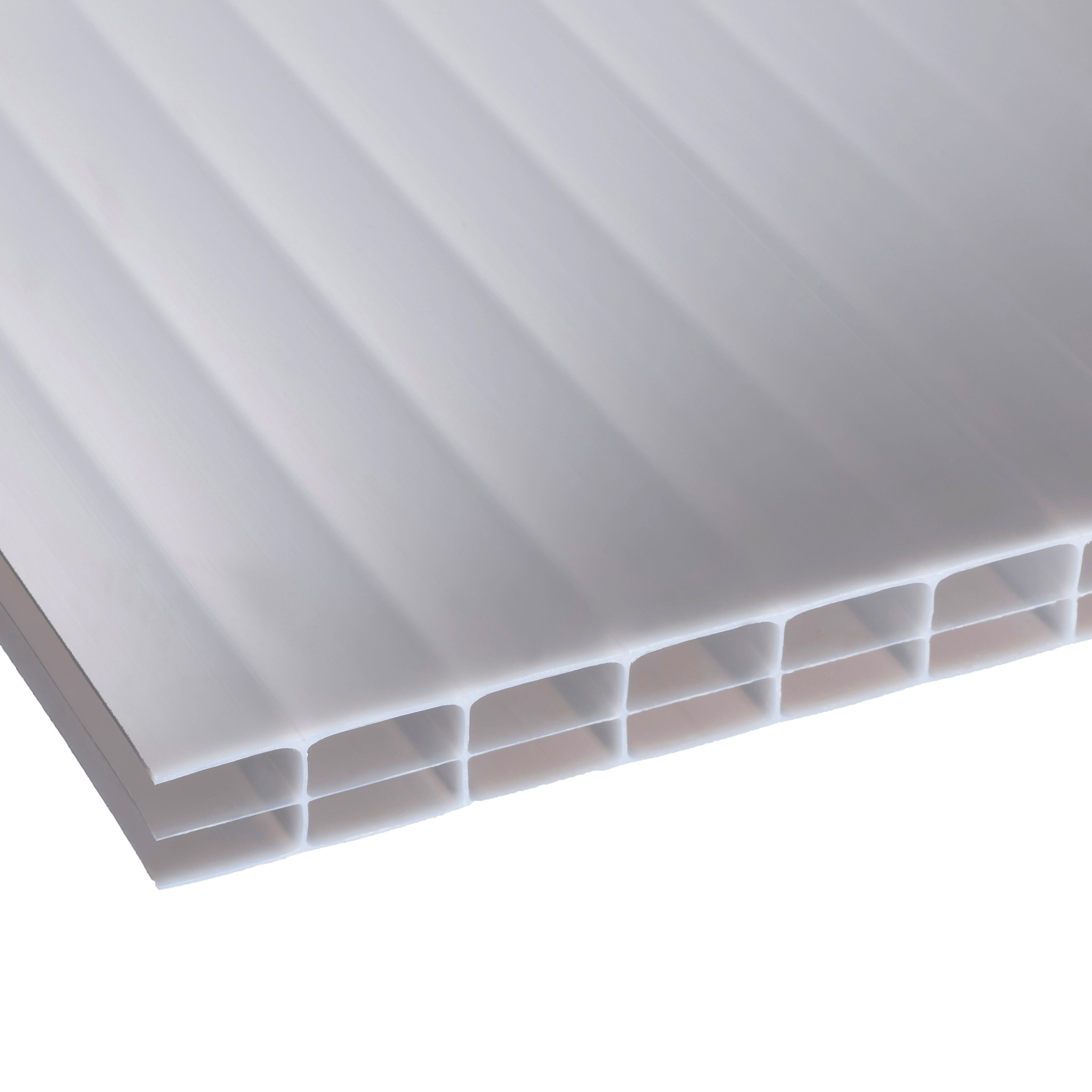 Opal Multiwall Polycarbonate Roofing Sheet 2.5m X 700mm, Pack Of 5