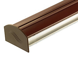 Corotherm Brown Glazing Bar Cap & Base, (H)50mm