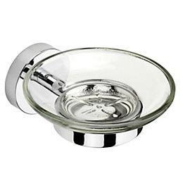 Croydex Flexi-Fix Epsom Chrome Wall Mounted Soap Dish