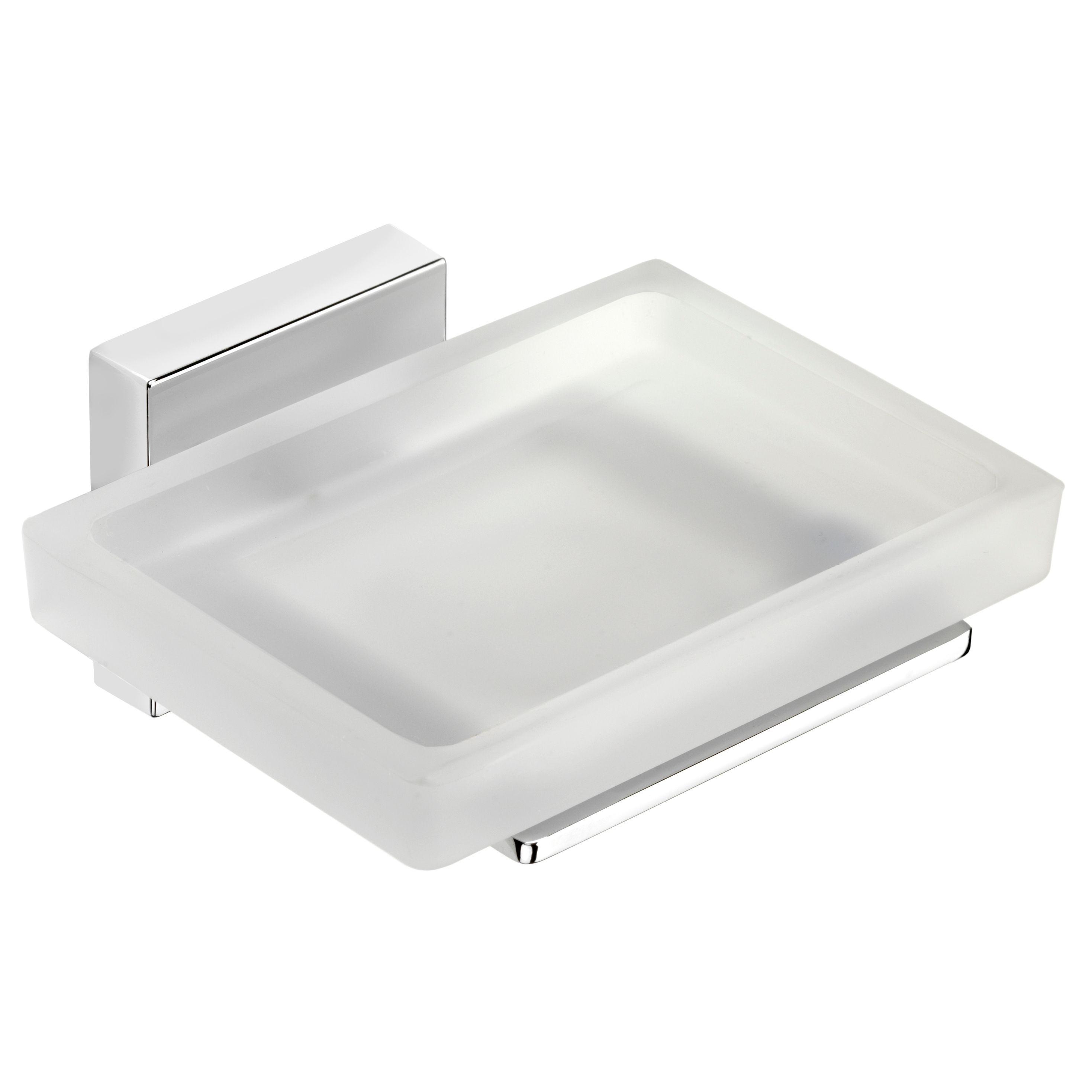 Croydex Flexi-fix Flexi Fix Cheadle Chrome Wall Mounted Soap Dish & Holder