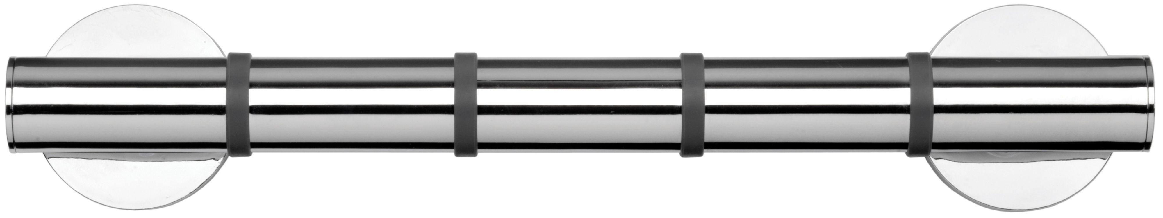 Croydex Grab'n'grip Chrome Straight Grab Bar (l)380mm