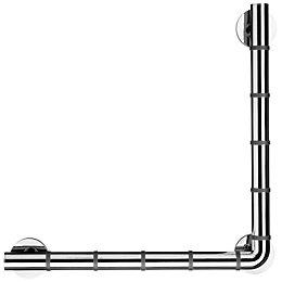 Croydex Grab'N'Grip Chrome Angled Grab Bar (L)480mm