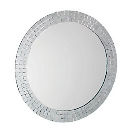 Croydex Hang'N'Lock Meadley Circular Wall Mirror (W)64cm