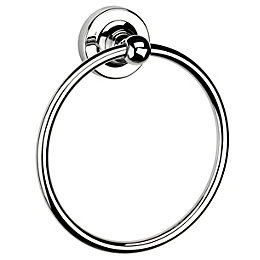Croydex Flexi-Fix Wimbourne Wall Mounted Chrome Towel Ring,