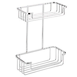 Croydex Chrome Mild Steel Two Tier Cosmetic Basket