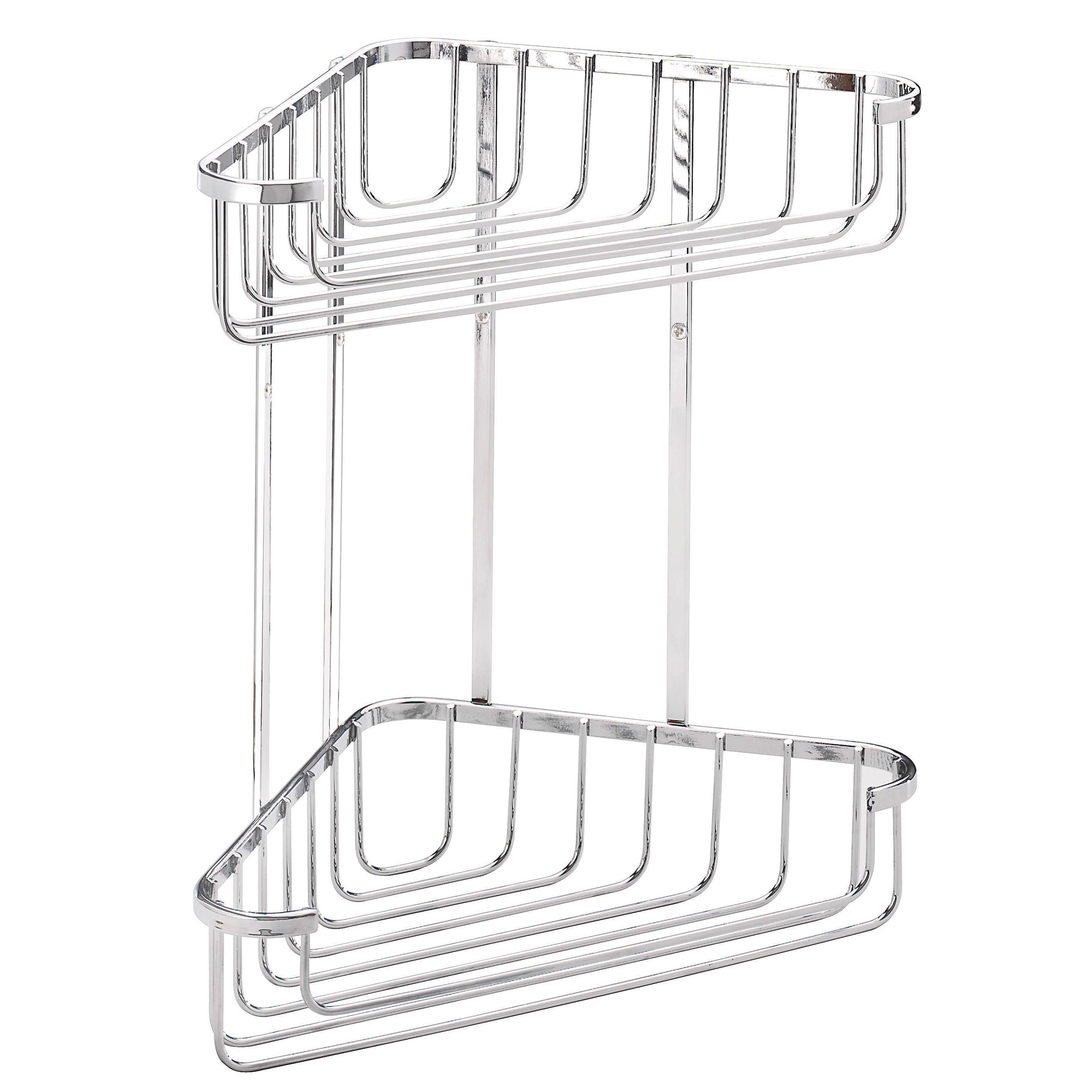 Croydex Chrome Mild Steel Large Corner Basket