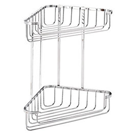 Croydex Chrome Mild Steel Large Two Tier Corner