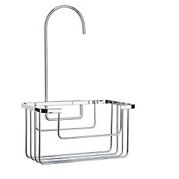 Croydex Chrome Effect Mild Steel Riser Rail Hook-over