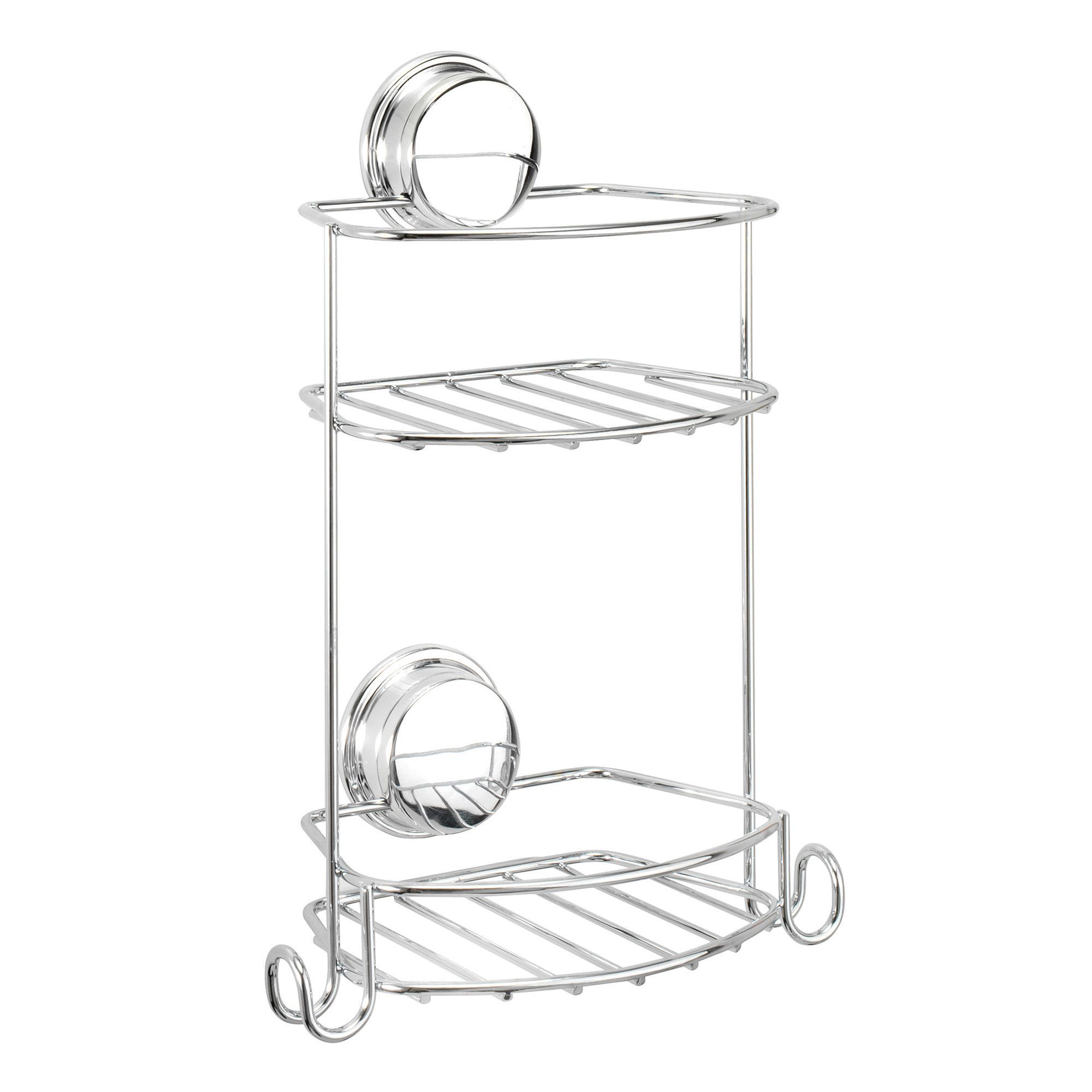 croydex stick  u0026 39 n u0026 39  lock plus chrome effect mild steel storage basket