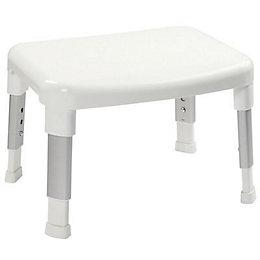 Croydex Height Adjustable Shower Stool, (H)29cm (W)42cm