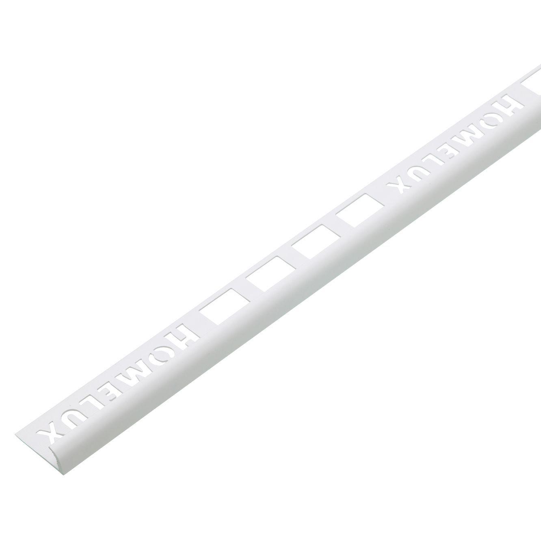 homelux white pvc tile trim departments diy at b q
