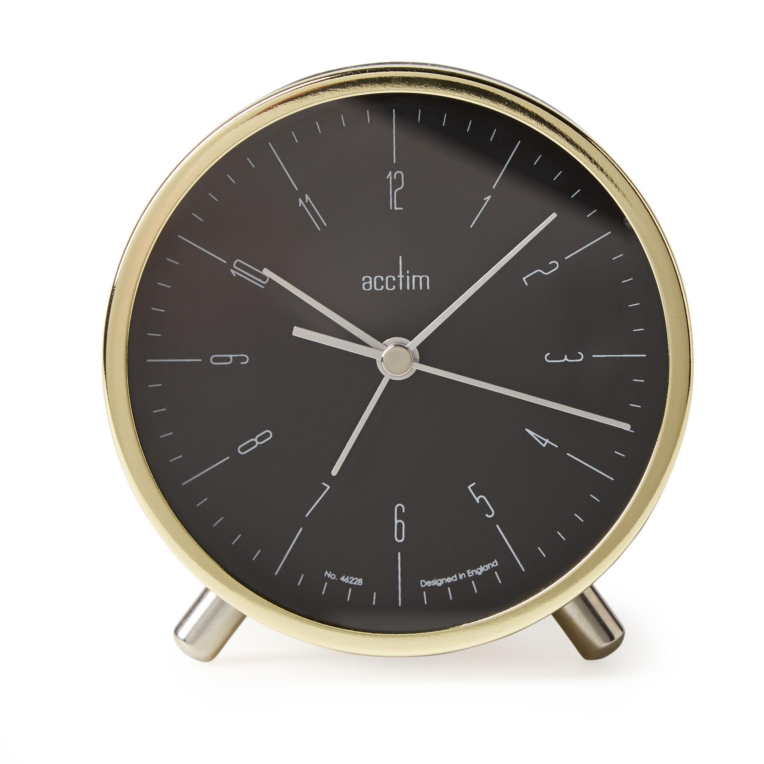 Acctim evo retro gold analogue alarm clock departments diy at bq amipublicfo Choice Image