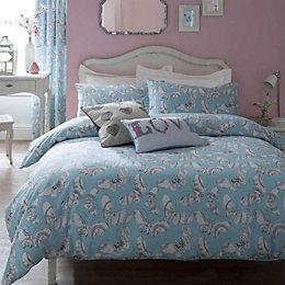Bohemian Butterfly Aqua Single Bedset