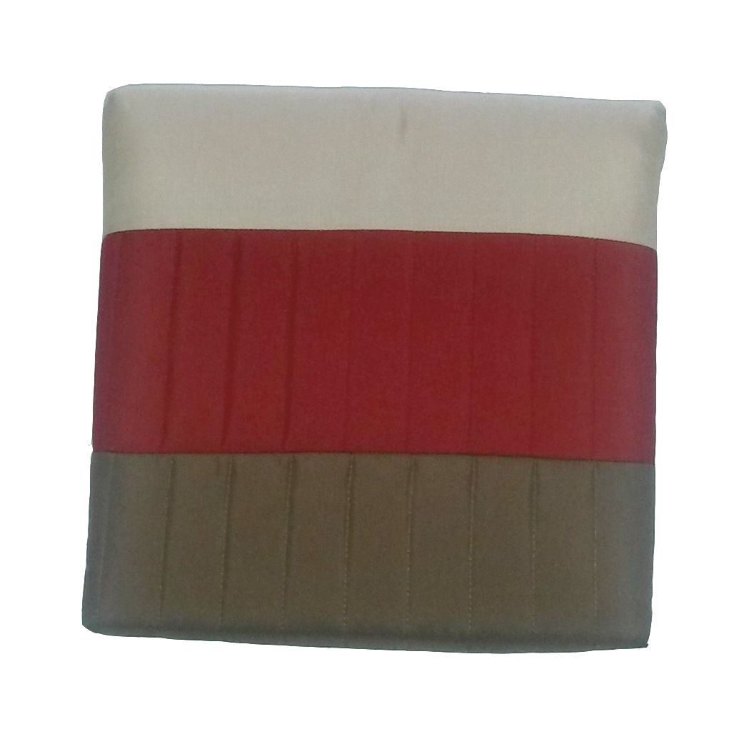 Chartwell Boston Red & Cream Striped Quilted Bed Runner