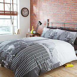 Empire State Black King Size Bed Cover Set