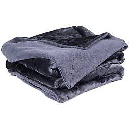 Chartwell Luxury Blue Plain High Sheen Velvet Throw