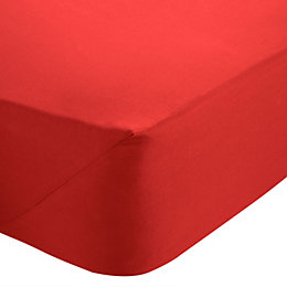 Chartwell Red Double Fitted Sheet