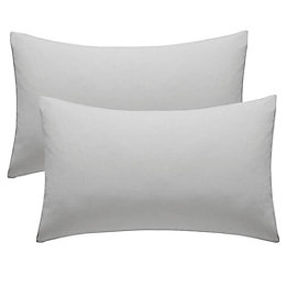 Chartwell Plain Housewife Grey Pillow Case, Pack of