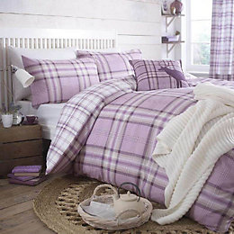 Kelso Checked Heather Single Bed Set