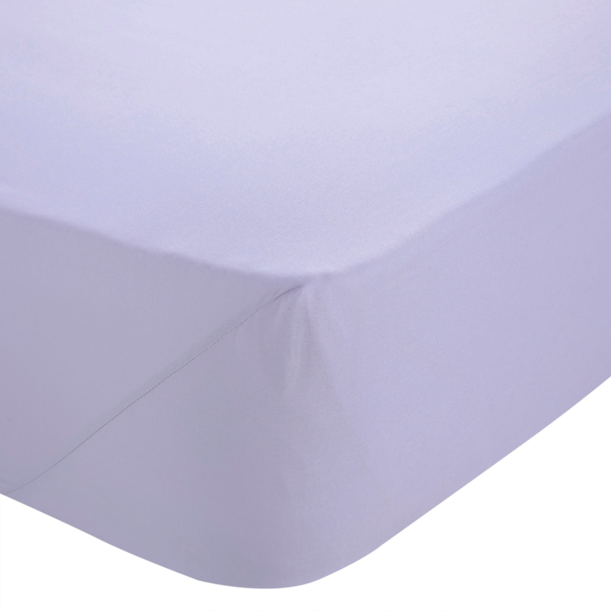 Chartwell Plain Dye Wisteria King Size Fitted Sheet