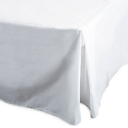 Chartwell Plain Dye White Single Percale Pleat Valance