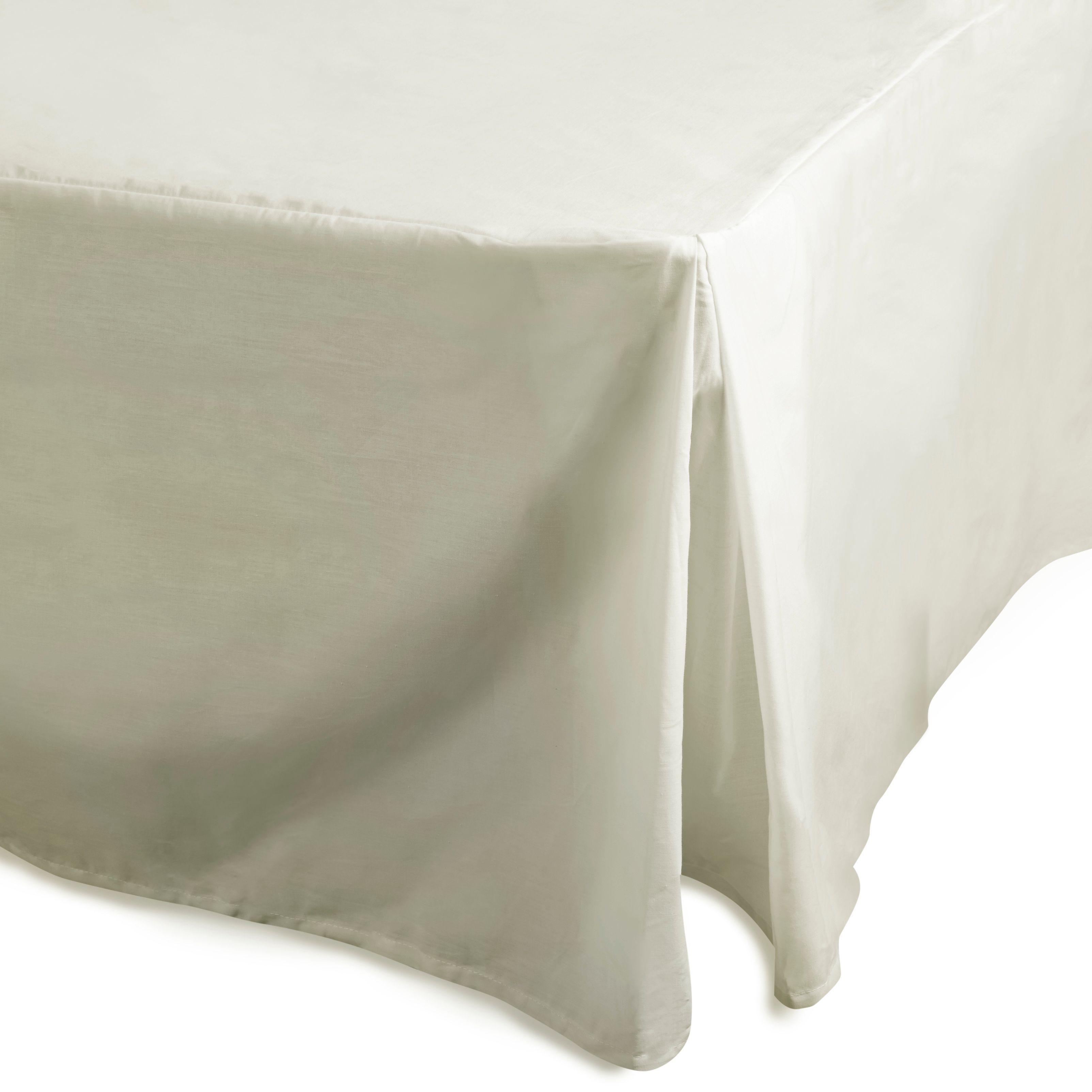 Chartwell Plain Dye Cream Single Percale Pleat Valance Sheet