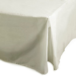 Chartwell Plain Dye Cream Single Percale Pleat Valance