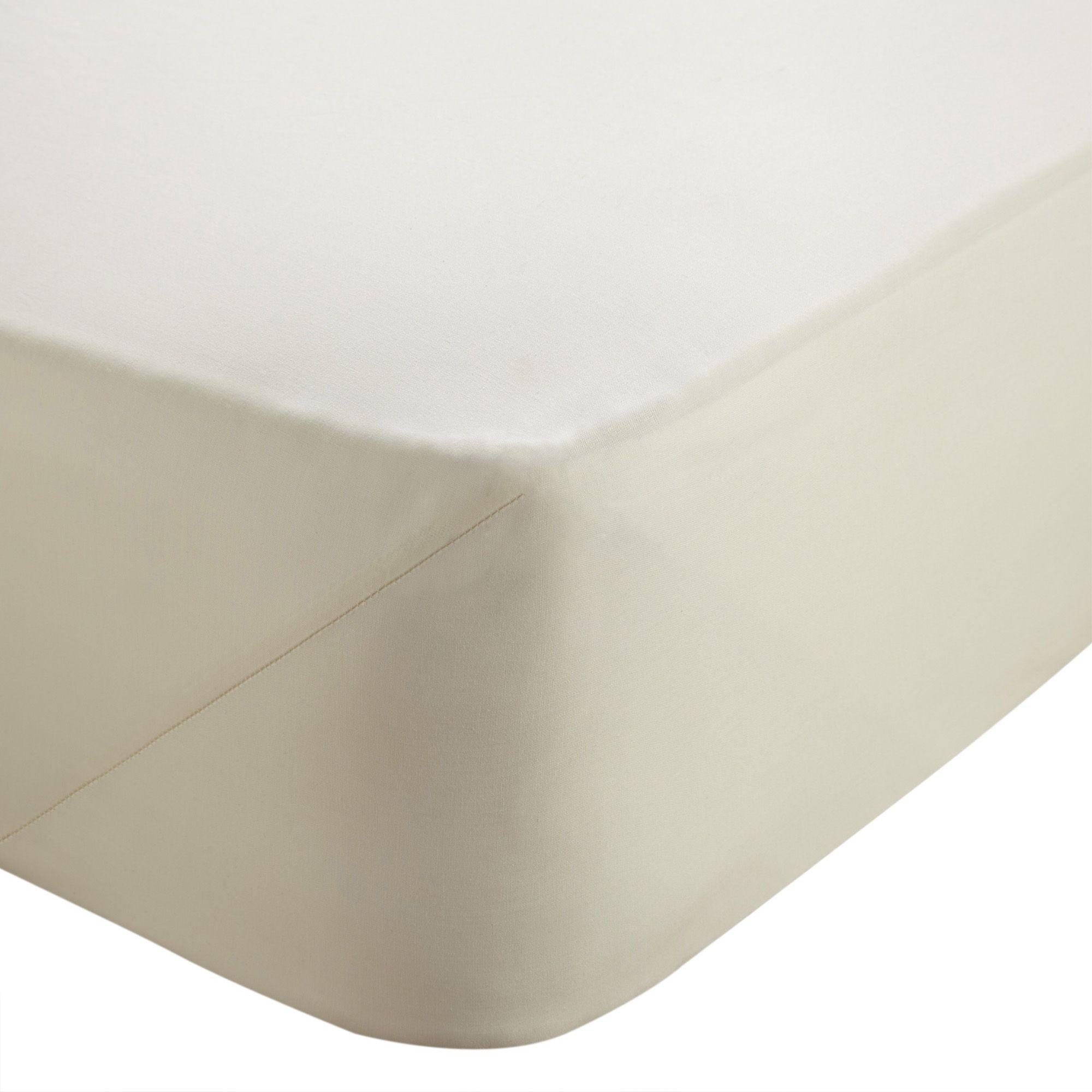 Chartwell Plain Dye Cream Single Deep Fitted Sheet