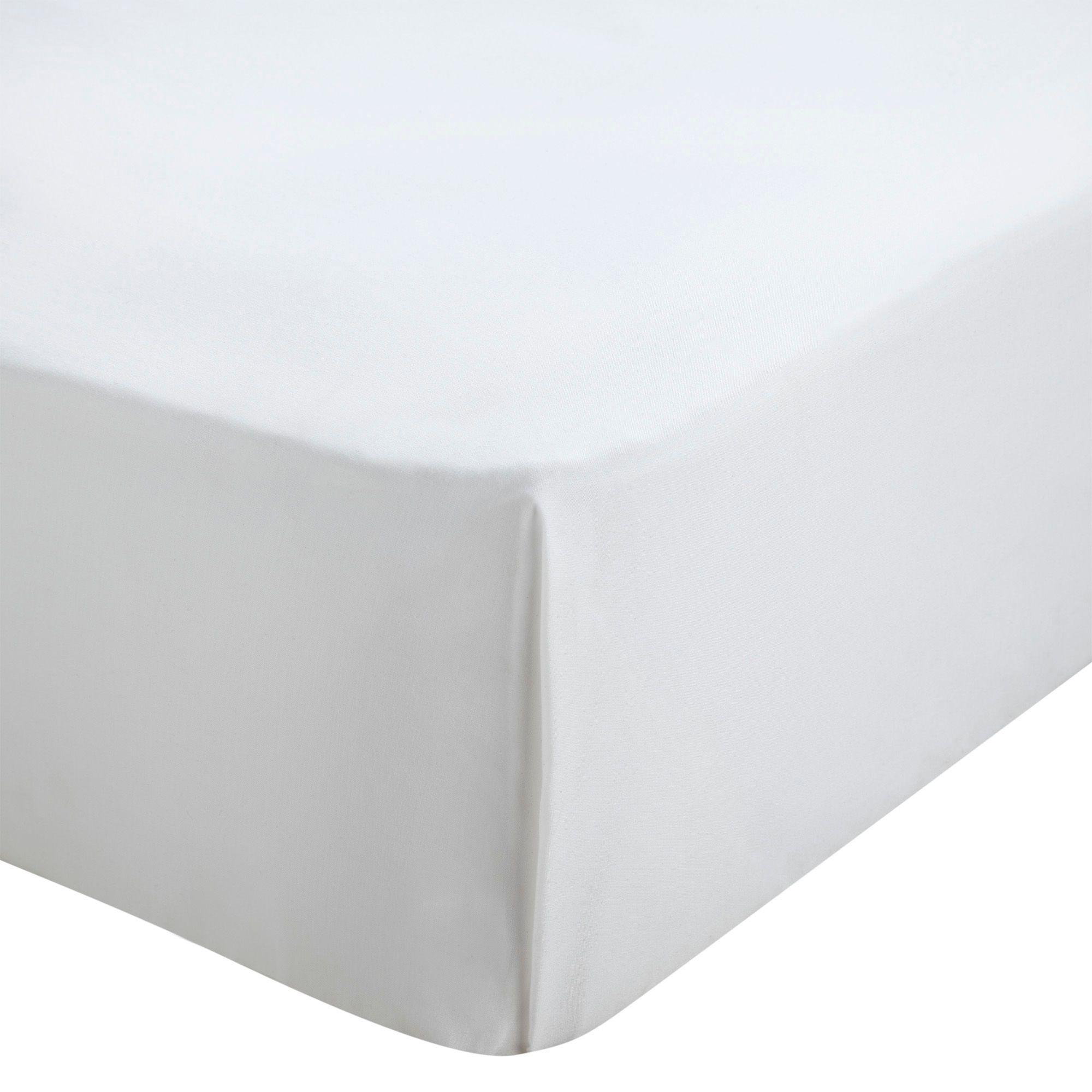 Chartwell Plain Dye White King Size Flat Sheet