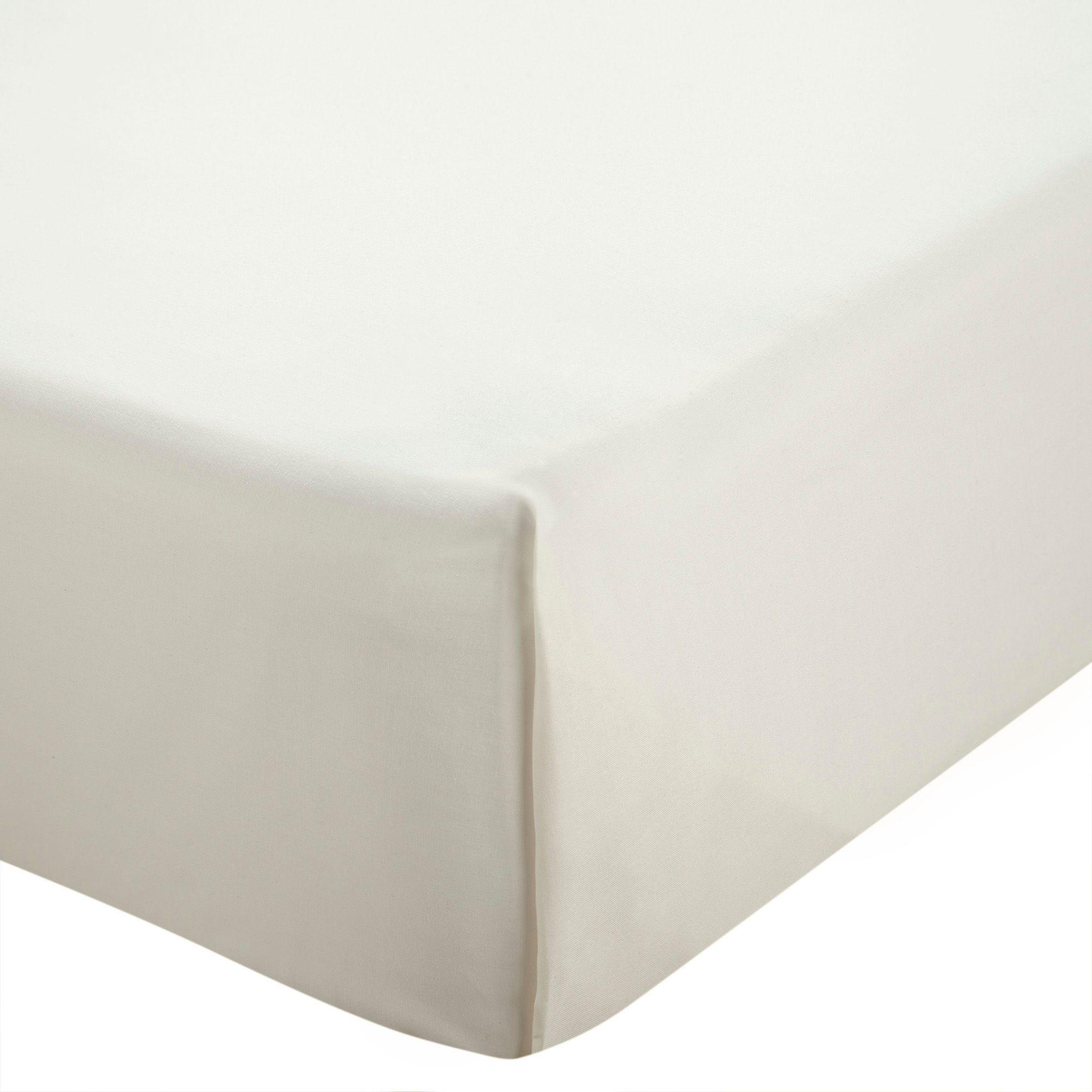 Chartwell Plain Dye Cream King Size Flat Sheet