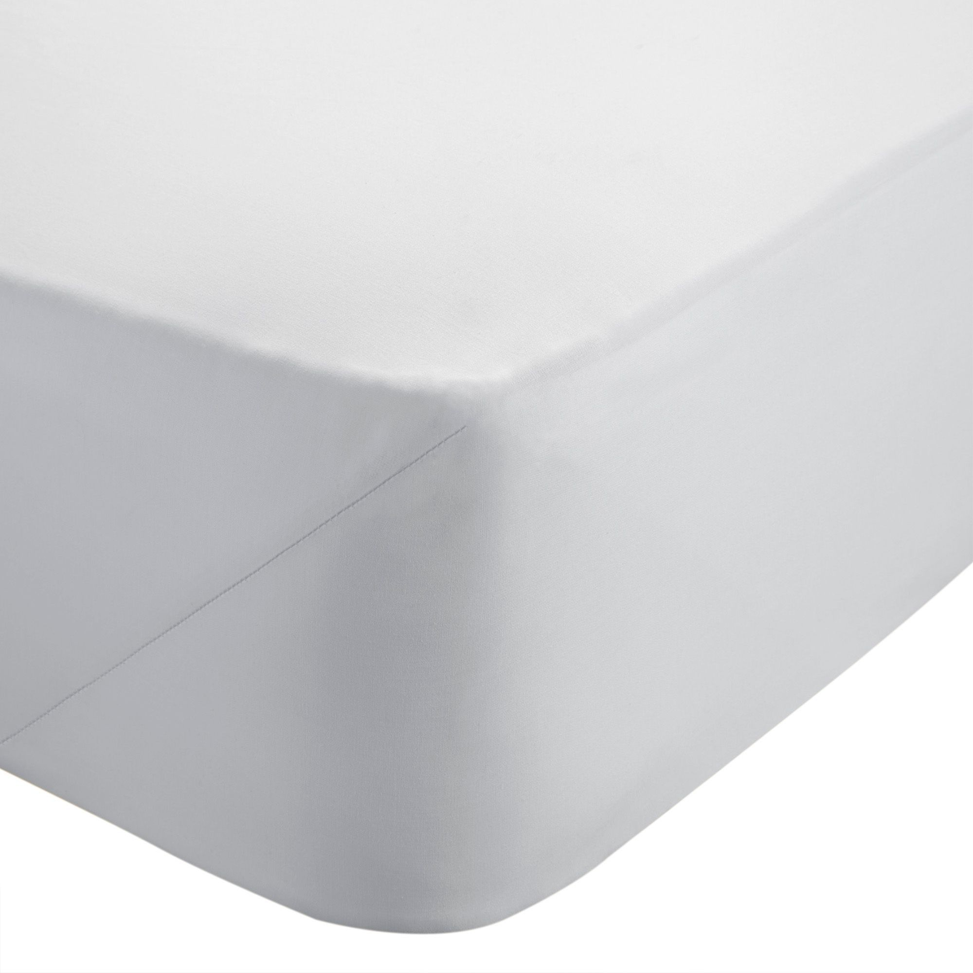 Chartwell Plain Dye White King Size Deep Fitted Sheet