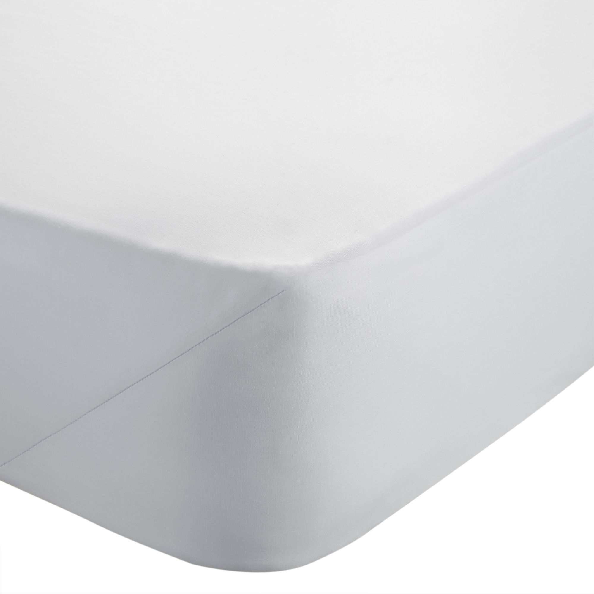 Chartwell Sateen White King Size Fitted Sheet