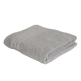 Catherine Lansfield Zero Twist Grey Bath Sheet