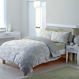Chartwell Floral Blossom & Striped Cream Double Bed