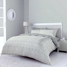 Chartwell Snowflake Grey King Size Bed Set