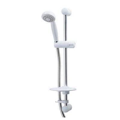 Triton Aaron 1 Spray White Shower Kit