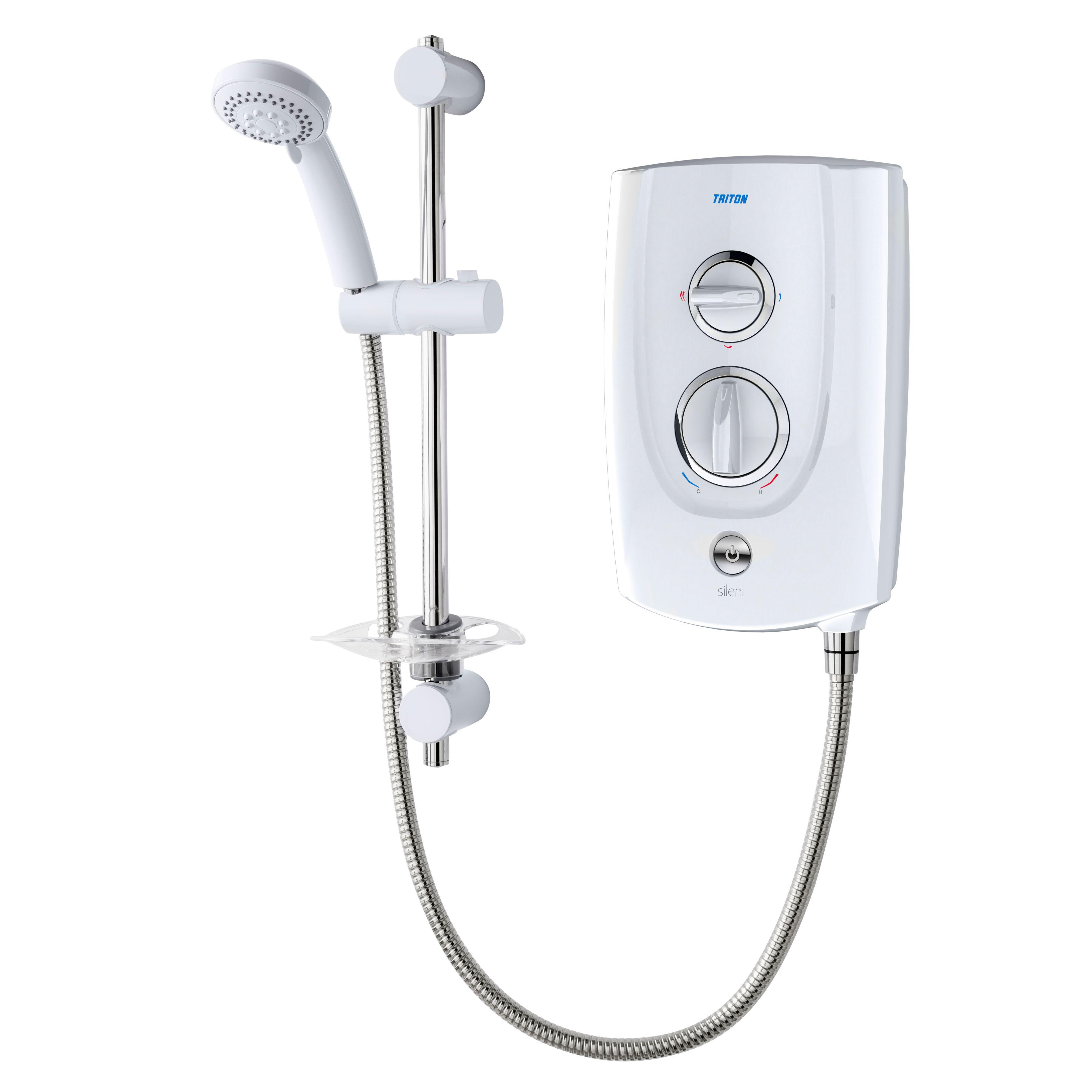 Triton Sileni 8.5kw Electric Shower, White & Chrome