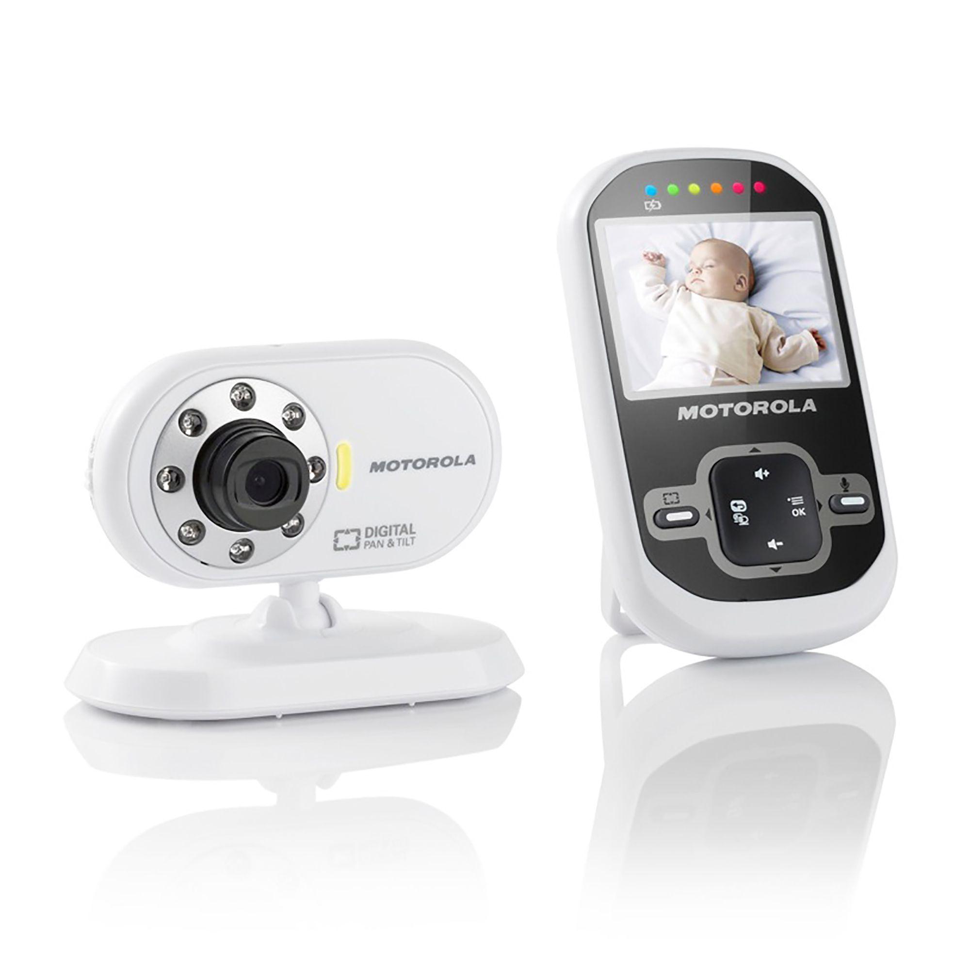 Motorola White Amp Black Video Baby Monitor Mbp26