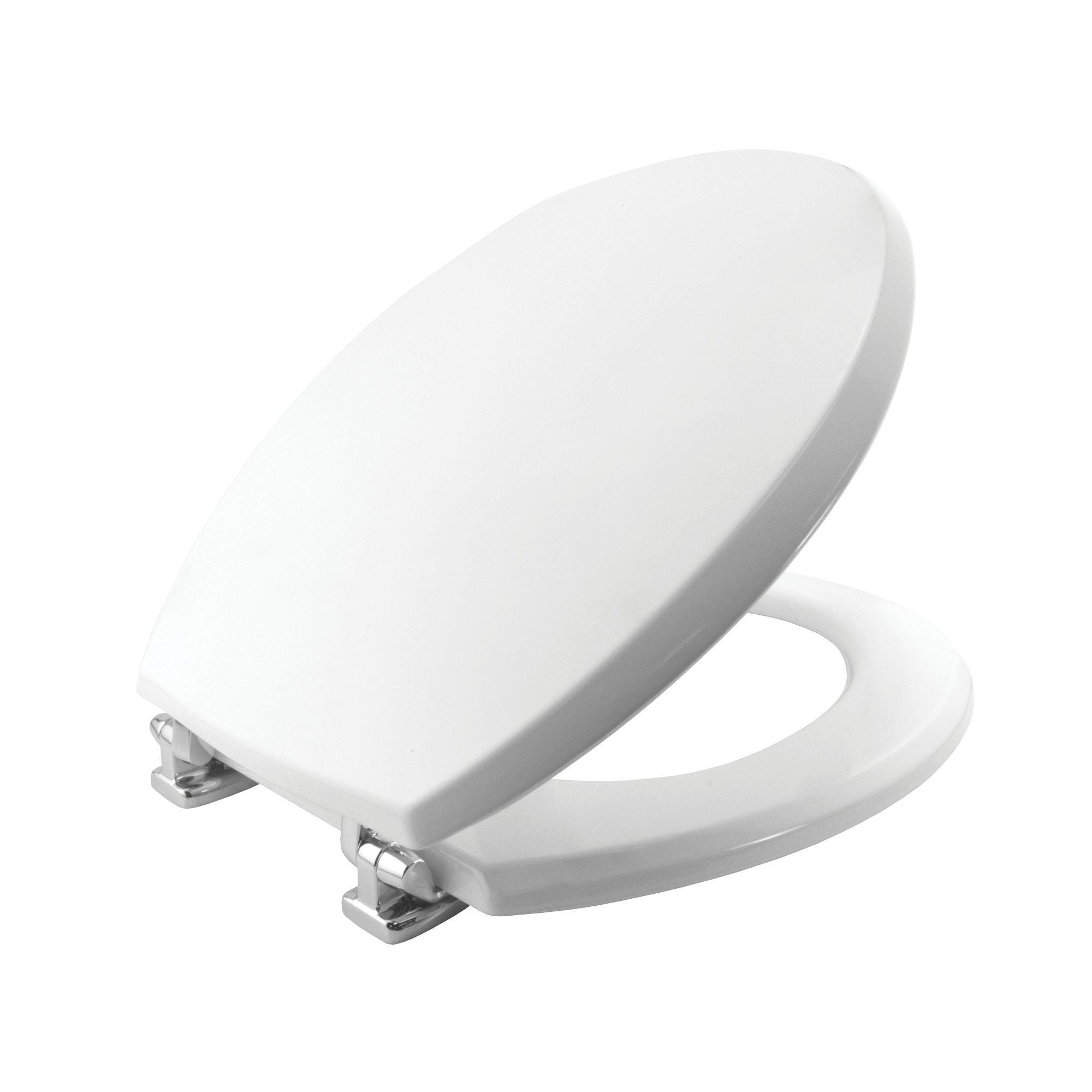 Bemis Denver White Toilet Seat Departments DIY At BQ - Bemis white toilet seat