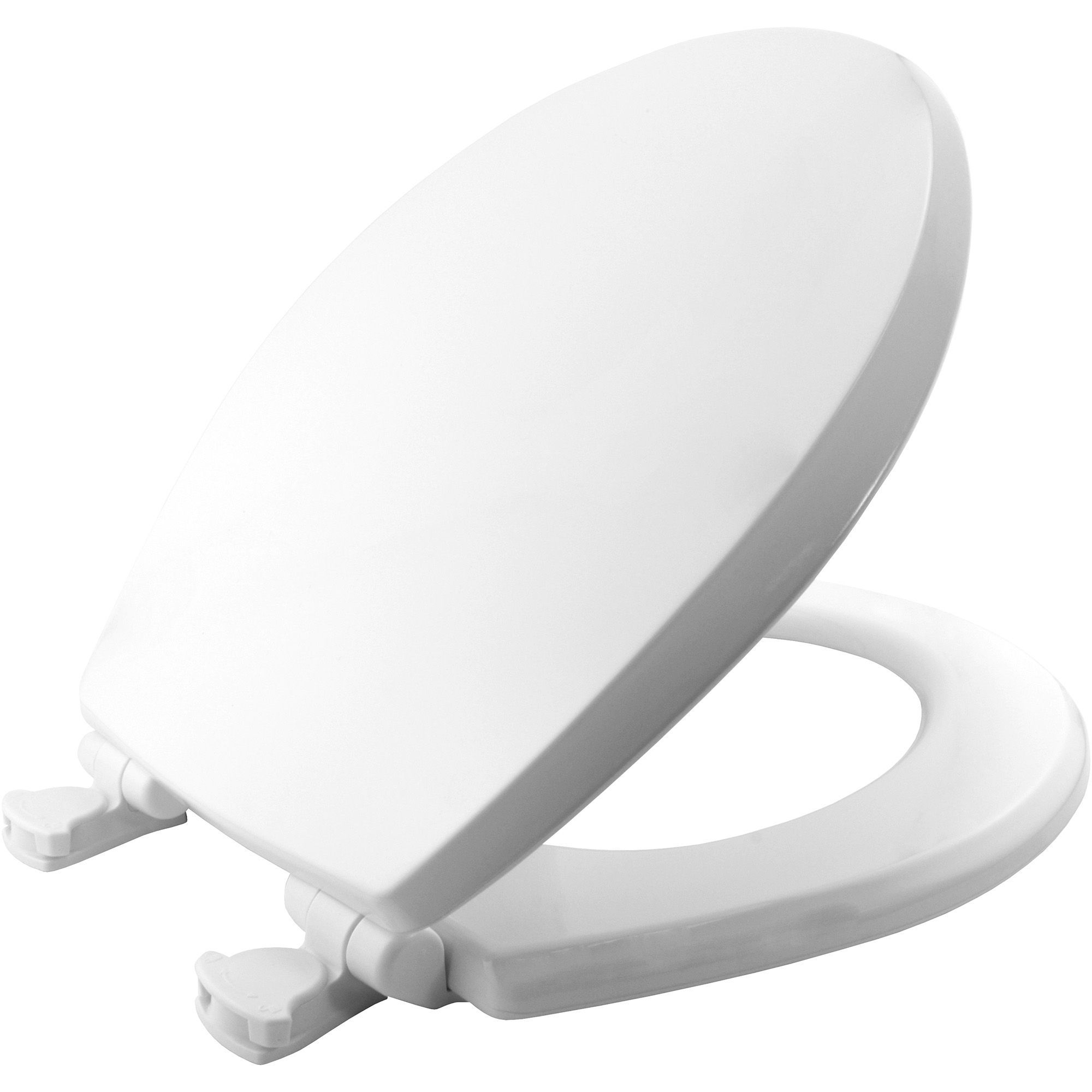 Bemis Boston White Soft Close Toilet Seat Departments DIY At BQ - Blue soft close toilet seat