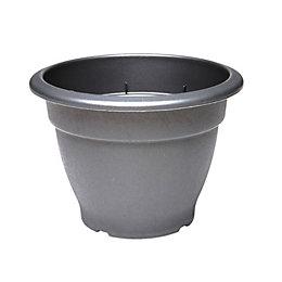 Round Plastic Black Bell Pot (H)33cm (Dia)46cm