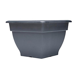 Square Plastic Black Bell Planter (H)33cm (L)46cm